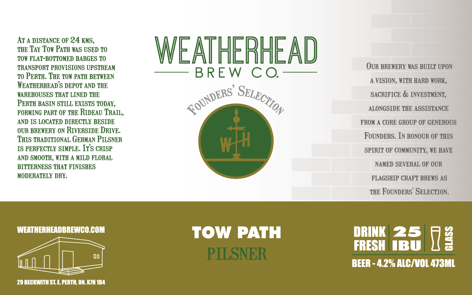 Tow Path Label