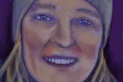 Portrait of TRK #2, 2016. Drawn on iPad mini.